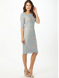 Details About Bnwt Ladies Phase Eight Odile Blue Lace Dress Size 10 Rrp 150