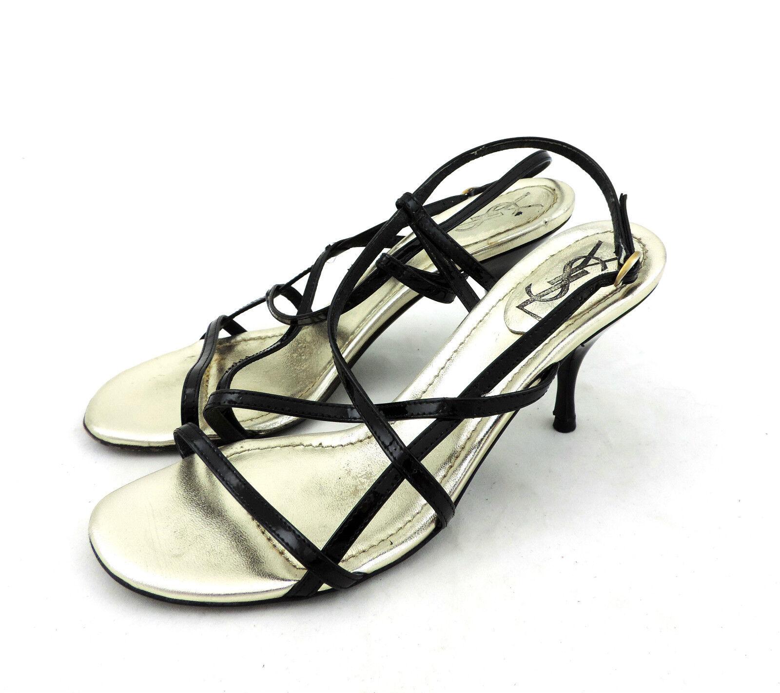 Yves schwarz Saint Laurent Sandale 36 schwarz Yves high heels Leder sandals 5d64d3