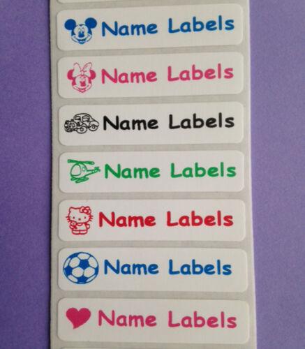 Stick on Waterproof School Kids Identity Printed Name Labels Stickers