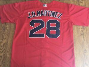 online store 4dfa5 4ece8 Details about J.D. Martinez Boston Red Sox Red Jersey Size Mens Medium Flex  Base $300