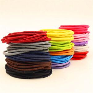 10Pcs Girl Ponytail Hair Holder Hair Accessories Thin Elastic Rubber Bands Decor