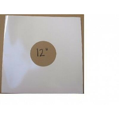 """100 x 12""""/LP's WHITE CARD DISCOBAGS / RECORD SLEEVES FREE P&P^"""