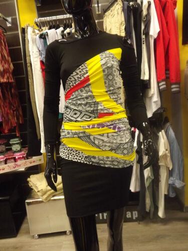 Mini M Asimmetrico L Tessuto Tg Koralline Abito Vestito Dress Scollo Doppio adwqp