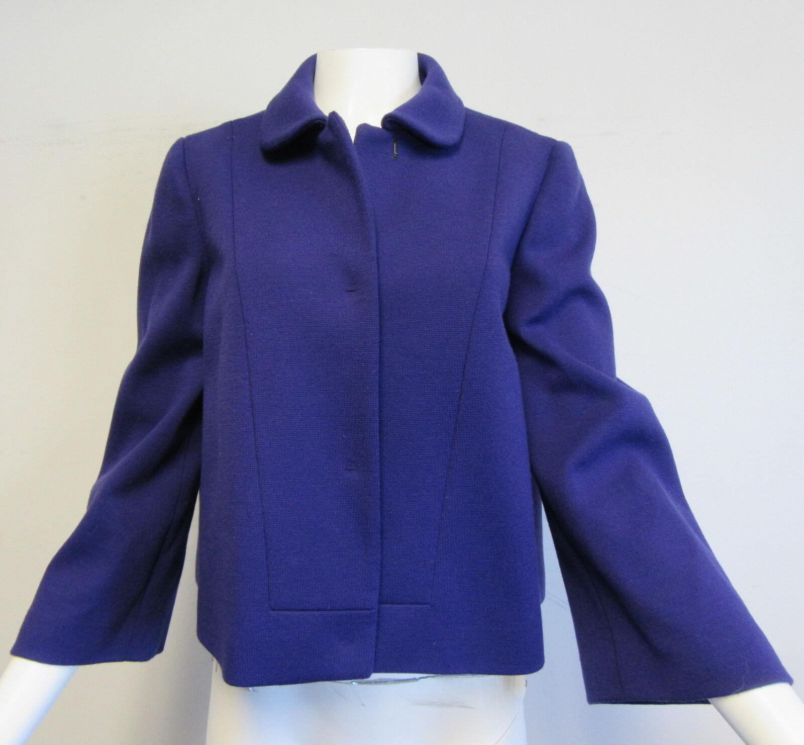 NWT M MISSONI purple wool blend knit boxy- fit blazer sz 46  12
