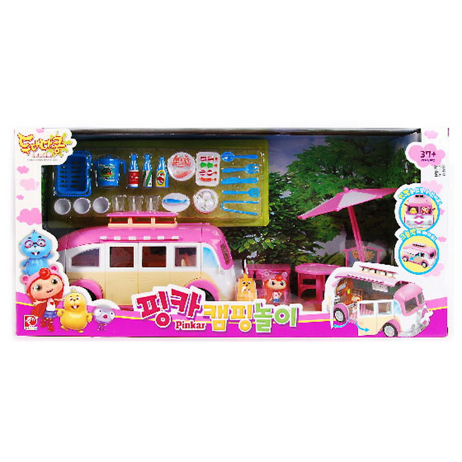 Doodadakong RosaAR CAMPING CAR PLAY SET kids toy Caravan Korean Animation Rosa