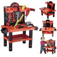 Childrens 54pc Tool Bench Play Set Work Shop Tools Kit Boys Kids Workbench Toy
