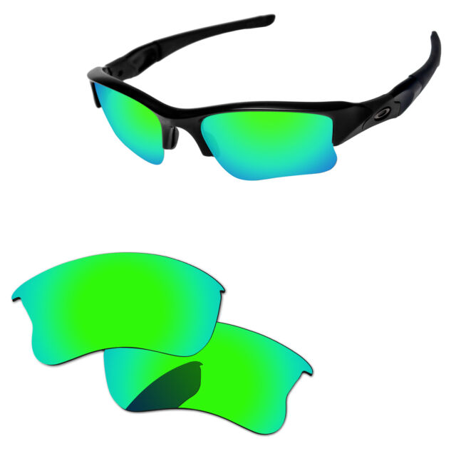 48d57ec4f167e PapaViva Bluish Green Polarized Replacement Lenses For-Oakley Flak Jacket  XLJ