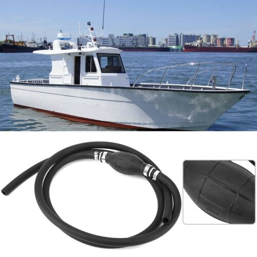 """Marine Outboard Boat Motor Fuel Gas Hose Line Assembly 3//8/"""" with Primer Bulb US"""