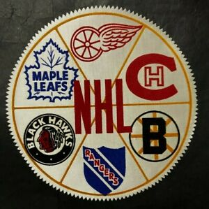1950-039-s-Toronto-Star-Weekly-NHL-Original-6-Hockey-Patch-National-Hockey-Six