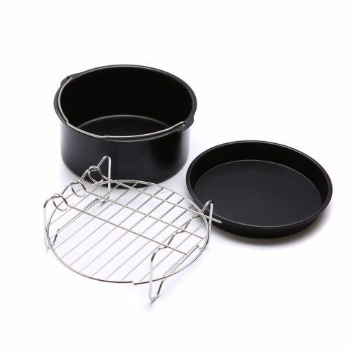 3 Brotbackkorb Bratpfanne Backblech für Heißluftfriteuse Zubehör Heißluftofen DE