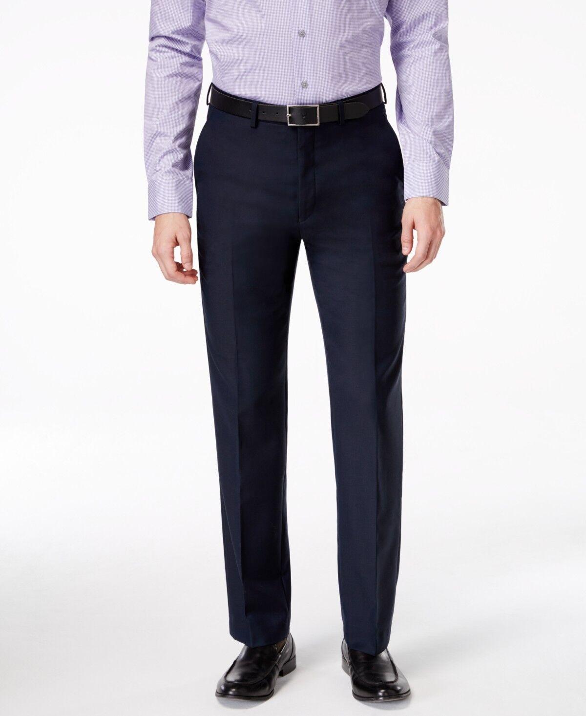 RYAN SEACREST Men blueE MODERN FIT SUIT WOOL DRESS TROUSERS PANTS 30 W 32 L