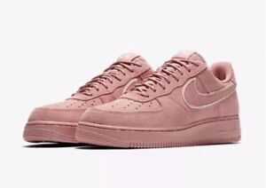 NEW Sz 12.5 Nike AF1 Air Force 1  07 LV8 Suede Pink Red Stardust ... 09b0ea9cca19