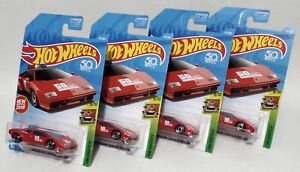 LAMBORGHINI-COUNTACH-PACE-CAR-LOT-OF-4-2018-HOT-WHEELS-RED-1982-POLICE