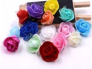 100-Foam-Rose-flower-home-wedding-party-car-decoration-craft-Wedding-Flower