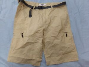 a99bb0e0bb Details about OCHENTA Men's 38 Tan Lightweight Multi Pocket Casual Cargo  Shorts NEW