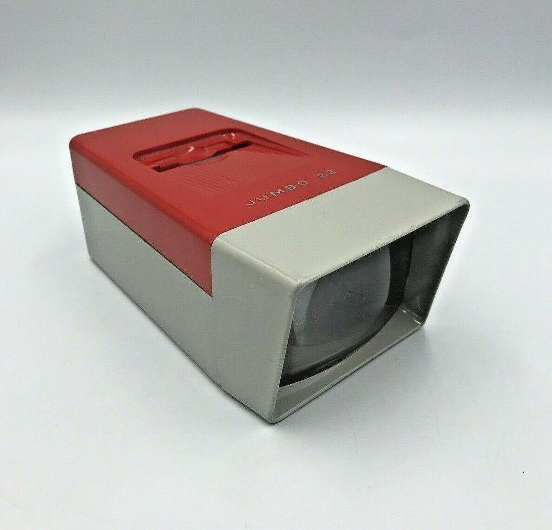 Vintage Slide Viewer Red Johnson Jumbo 22 SV2 Battery Operated For 35mm Slides