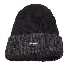 a0b3b1a8f0f Mens Grey black Beanie Hat Chunky Knit Fleece Lined 3m Thinsulate Hats