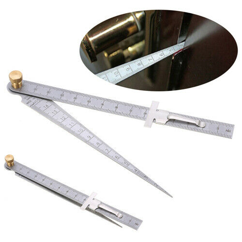 1pcs Stainless Steel Taper Welding Feeler Gauge Gage Depth Ruler Gap Hole 1-15mm