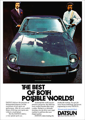 DATSUN 240Z RETRO A3 POSTER PRINT FROM CLASSIC 70'S ADVERT