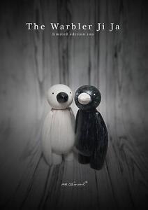 Paruline blanche et noire Ji Ja Oiseau M. Clement Art Figure de jouet d'artiste 712012454954