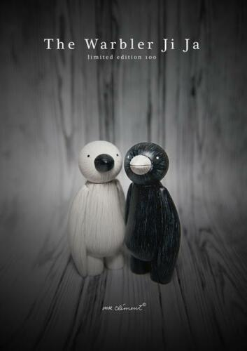BOTH WHITE AND BLACK WARBLER JI JA BIRD A MR CLEMENT DESIGNER ART TOY FIGURE
