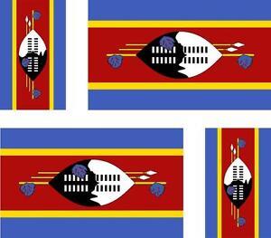 4x-Adhesivo-adesivi-pegatina-sticker-vinilo-bandera-vinyl-moto-coche-suazilandia