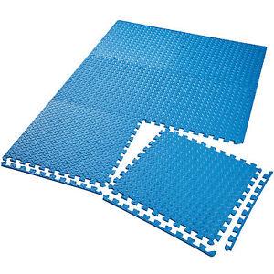 6er-Set-Schutzmatten-Bodenmatte-Unterlegmatte-Fitness-Gymnastik-Puzzle-blau