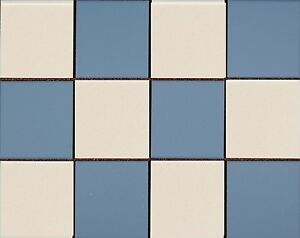 Image Is Loading Victorian Reproduction Unglazed Floor Tiles Blue Amp White