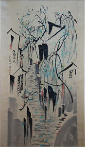 Excellent-Chinese-100-Hand-Painting-amp-Scroll-Landscape-By-Wu-Guanzhong