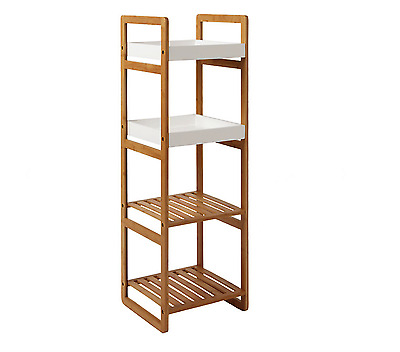 Admirable John Lewis Bamboo 4 Tier Bathroom Storage Rack Natural H110 X W36 X D33Cm Ebay Download Free Architecture Designs Griteanizatbritishbridgeorg