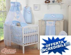 lettino bimbo culla per neonato con set coordinato velo materasso ...