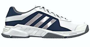 Details zu Adidas B23040 Barricade Court Leder Schuhe Ultra Running Sneaker 46 Weiß Navy