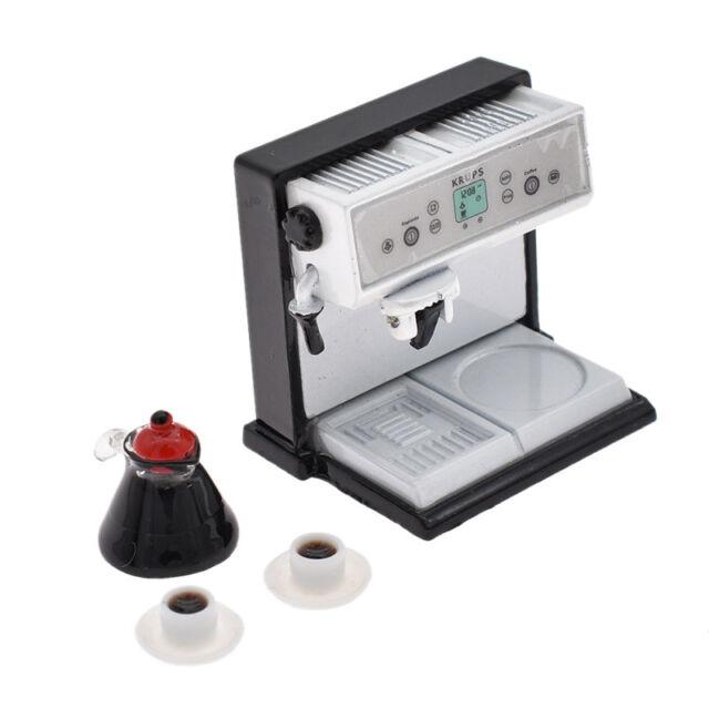 Miniature Coffee Maker Machine  Dollhouse Kitchenware Accessories Kids Toy 1Set