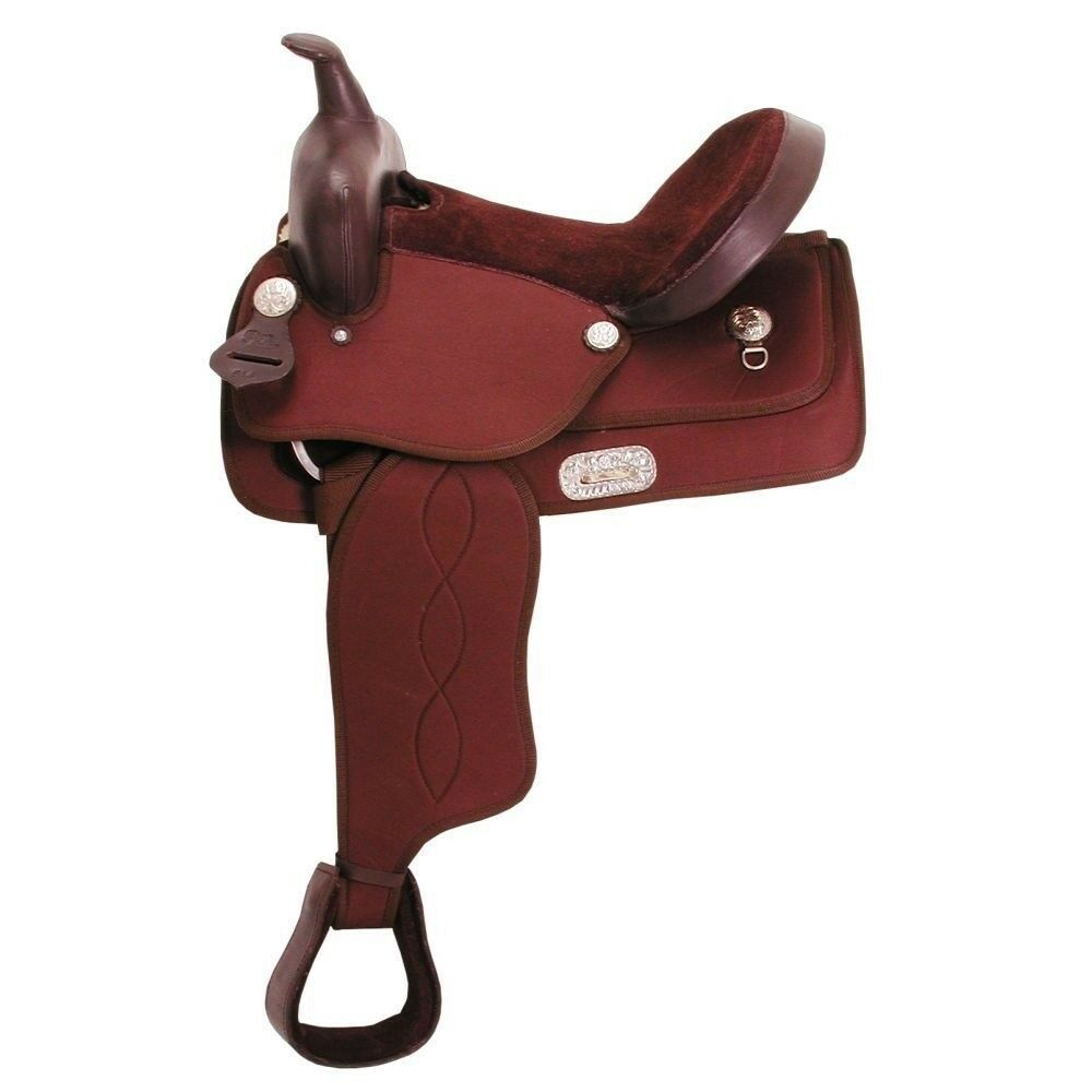 King Series Krypton Synthetic Pony Western Saddle with 30  Neoprene Cinch