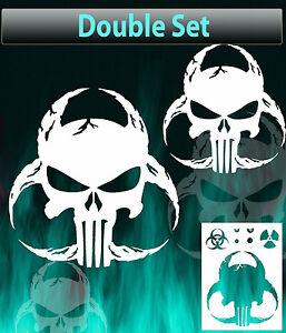 Punisher Skull Biohazard Airbrush Stencil Spray Vision Template