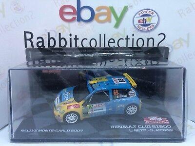 """Fiducioso Die Cast """" Renault Clio S1600 Rallye Monte Carlo 2007 L. Betti G. Agnese """" 1/43 Per Garantire Una Trasmissione Uniforme"""