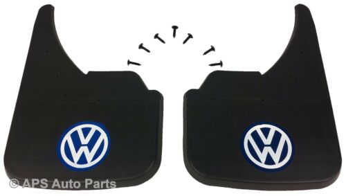 Universal Car mudflaps front rear VW Volkswagen Blue Logo Lupo Passat Polo Guard