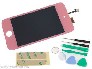 Pink Glass LCD SCREEN DIGITIZER display replacement for IPOD TOUCH 4TH 4 a1367