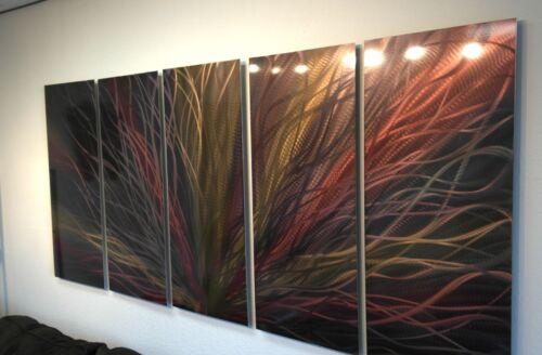 "Modern Decor Original 36/"" Large Bronze Radiance Abstract Metal Wall Art"