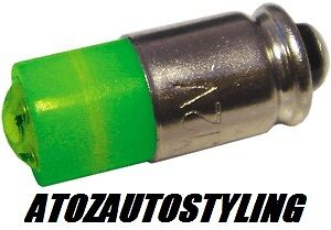 Savage Push Button Car Switches LED Green /</<NEW/>/>