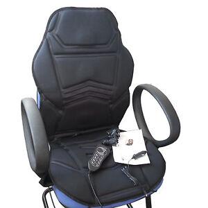 MASAJE Calentado FUNDA ASIENTO Cojín para silla oficina casa coche ...
