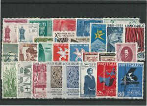 Italia-annata-completa-nuova-MNH-1958-29-valori