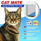 Petmate 4-Way Locking Glass Fitting Cat Flap, White