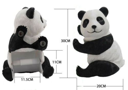 Bathroom Toilet Roll Paper Holder Wall Mounted Resin Panda Statue Home Decor P51