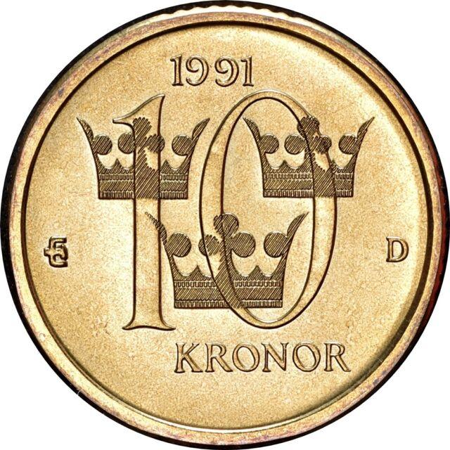 Sweden 10 Kronor 1991 For Sale Online Ebay