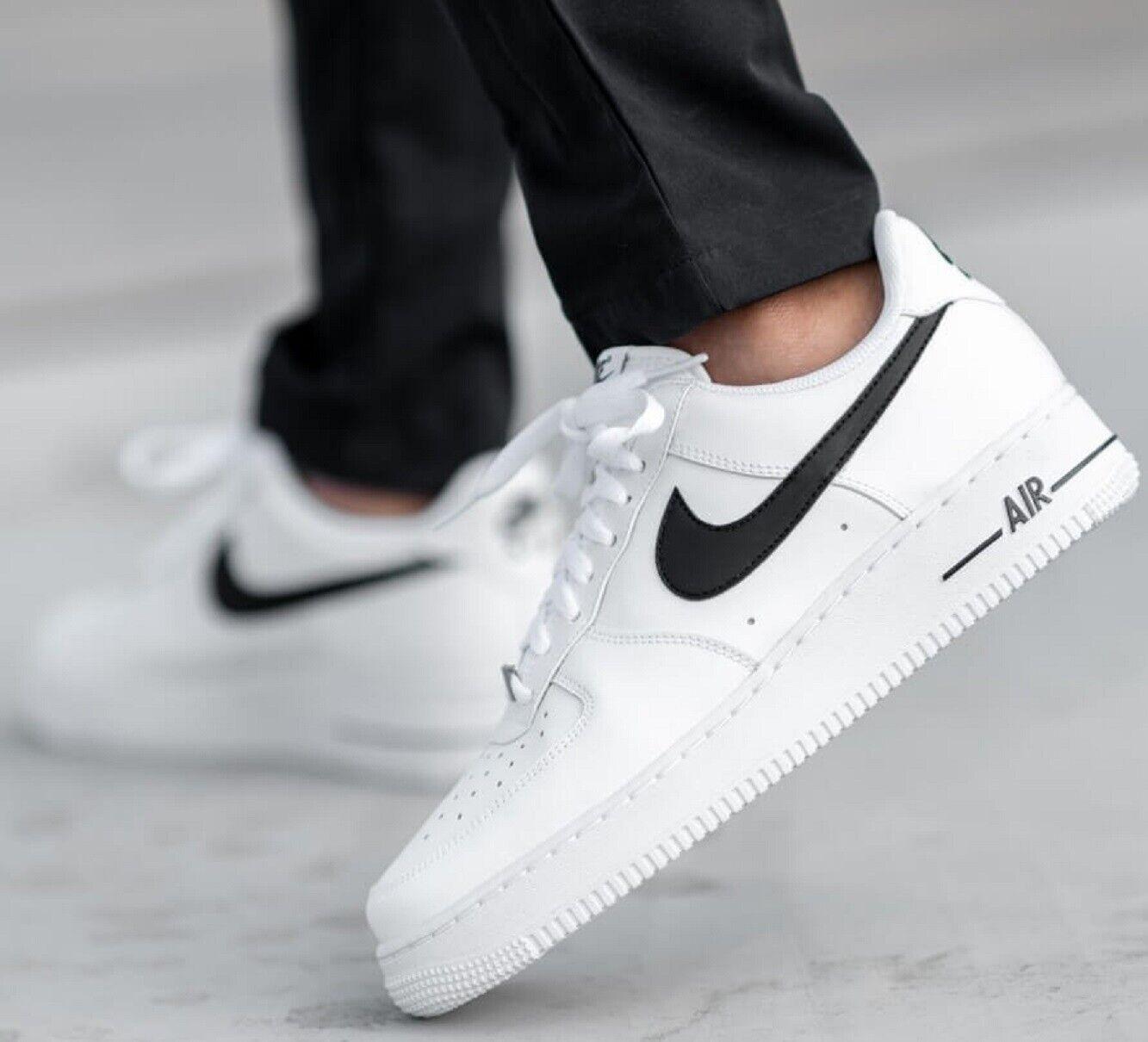 Nike Nikelab Air Force 1 Low Black White Men S Size 9 5 Mid High