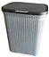 Plastic-Laundry-Basket-Large-Washing-Clothes-Bin-Rattan-Style-with-Handles-Lid thumbnail 39