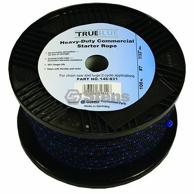 100% Waar 100' True Blue146 931 Recoil Starter Pull Rope #7 Solid Braid Chainsaw Lawnmower