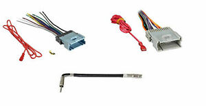 Combo Car Radio Stereo Wiring Harness Antenna for Specific Chevy GMC Pontiac