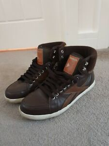 Vintage-Reebok-Classic-Brown-High-Top-Trainers-Size-7
